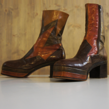 Original bottine homme cuir Psychedelique 1970