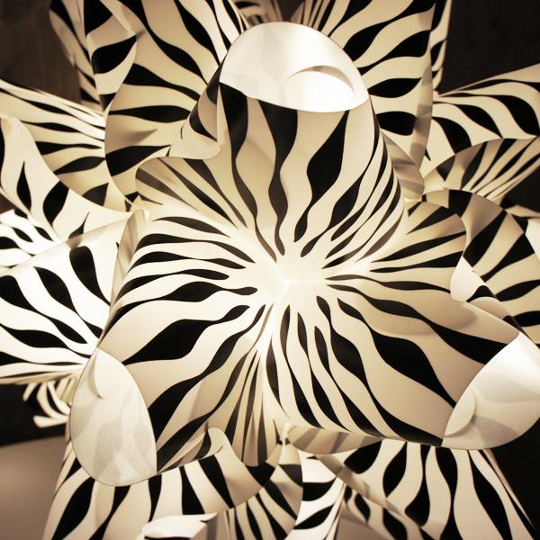 "Structure luminaire RAOUL RABA ""Diatomé"""