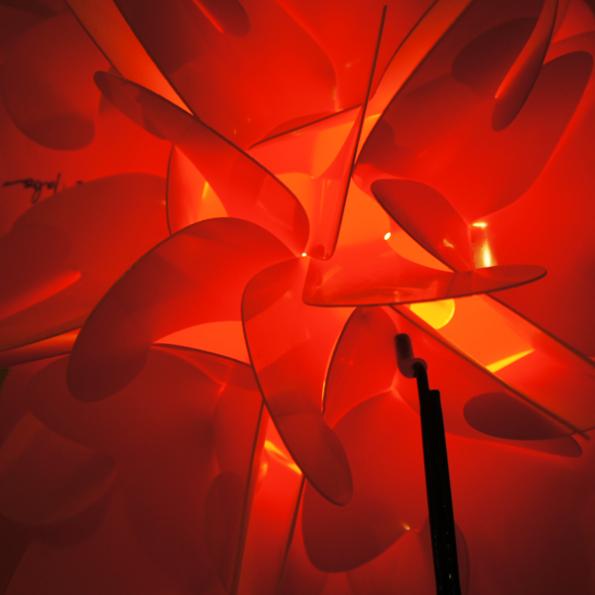 Structure luminaire RAOUL RABA « Rose des Sables »