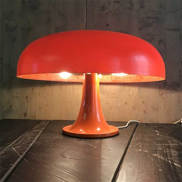 First Edition of a Nesso Table Lamp by Artemide orange