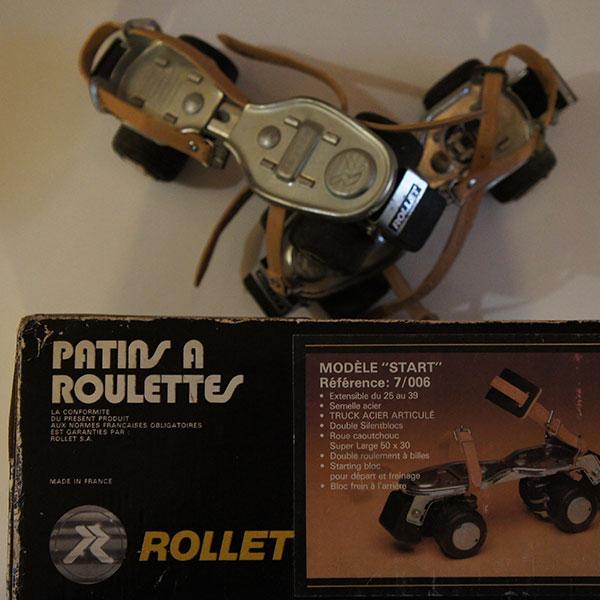 Patin a roulette rollet 70s