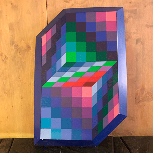 Relief By Victor Vasarely